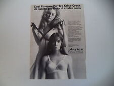 advertising Pubblicità 1969 REGGISENO PLAYTEX CRISS CROSS