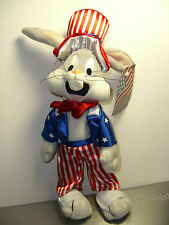 Warner Brothers 1999 Bugs Bunny Stars and Stripes bean bag plush-New-w/tags-WB