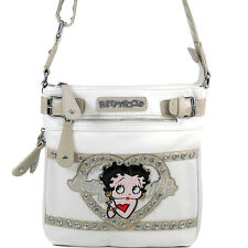 New Betty Boop Women Leather Messenger Crossbody Bag Purse Wallet Clearance Sale