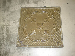Antique Ceiling Tin-Tile-Vintage-Primitive-Late 1800's-2x2 ft-Old Architectural
