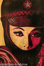 "Obey Giant Shepard Fairey Poster Mujer Fatal War Muslim Arab Woman 8"" x 11"""