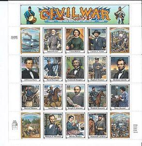 1994 32c Civil War Between The States (1861-1865), Full Pane/Sheet MNH