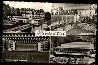 Bad Orb Hessen 1960 Mehrbildkarte ua Kurhaus mit Anlagen neue Konzerthalle innen