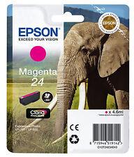 CARTOUCHE EPSON MAGENTA 24 / elephant t24 expression photo xp-750 xp-850 t2423