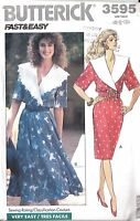 UNCUT Butterick Sewing Pattern Misses Fast Easy Pullover Dress 3595 6 - 10 OOP