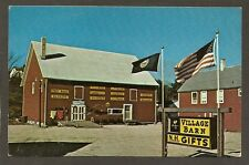 POSTCARD:  THE VILLAGE BARN - GIFT SHOP - TROY, NEW HAMPSHIRE - Unused, c.1960s