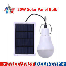20W LED Solar Tent Lamp Yard Camping Bulb Light Rechargeable Outdoor Hiking US