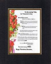 Handmad Inspirational Plaque for Marriage -To My Loving Wife On Valentine's Day