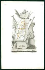 1823 Original Decorative Antique Map - IRELAND DUBLIN WICKLOW by Perrot (52)