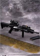 Rare Arms-rack 1/6 Scale Rilfe Gun M4A1 Weapon Box Set 1/6 Black Version