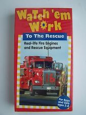 Watch 'Em Work To The Rescue VHS Video Tape New Sealed