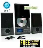 ONN ONA17AA015 Mini CD Stereo System Wireless with Bluetooth FM Radio / Remote