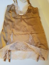 MYLA COFFEE SUSPENDER FITTED SLIP MEDIUM 10-12 NWT L'AGENT PROVOCATEUR STOCKING