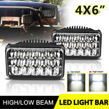 75W 4x6inch Rectangle LED Headlight High Low Beam For Peterbilt Kenworth Truck