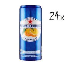 24 Dose L'Aranciata 330 ml San pellegrino Orangen Limonade Original Orange