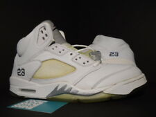 2000 Nike Air Jordan V 5 Retro + 3/4 Hi WHITE METALLIC SILVER BLACK OG NEW 11.5