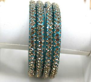 Indian Glass Bangles Set - Stone Studded Bollywood Traditional Wedding Favour