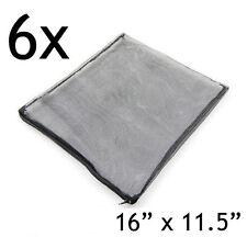 """6 pcs Filter Media Mesh Bags 16"""" x 11.5"""" Zipper Reusable fish aquarium tank pond"""