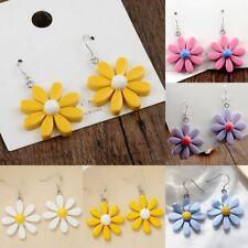 Sweet Women Acrylic Daisy Flower Ear Stud Earrings Fashion Ladies Drop Dangle