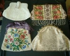 4 X VINTAGE LADIES EVENING/CLUTCH BAGS INC. BEADED, GREAT CONDITION.