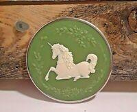 Vintage Hallmark Keepsake Ornament Unicorn Cameo Christmas Tree Decoration