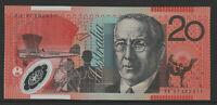 MacFarlane / Evans 1997 : First prefix AA97 $20 Australian Polymer Banknote, Unc