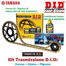 DID 100529 Kit Trasissione Katena con Corona e Pignone per Yamaha XSR - Oro