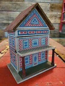 Antique Victorian Converse Childs Doll Play House 1900's Nice Child Toy early