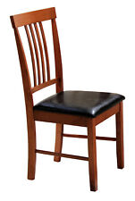 Two Massa Traditional Wooden Dining Chairs -  Mahogany Finish