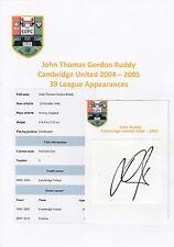 John rojiza Cambridge United 2004-2005 Original Corte/tarjeta firmada a mano