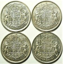 1944 1946 1947 1951 Canada 50 Cents Silver Lot of 4 #11725