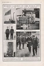 1921 - PRINT- UNITS OF THE JAPANESE NAVY IN SHEERNESS