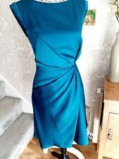 Karen Millen teal satin dress size UK14