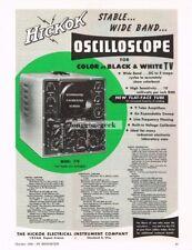 1956 Hickock Model 770 Oscilloscope TV Service Test Equipment Vtg Print Ad