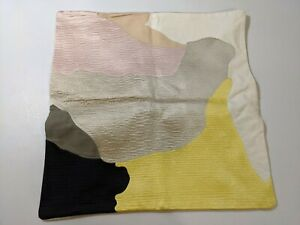 """West Elm Abstract Art Palette Pillow Cover 20"""" x 20"""" Citrus Yellow New With Tags"""