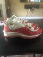 Nike Air Max 98 GS University Red White Youth Boys Sneakers Size 5Y