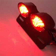 Tail Brake License Plate light Universal Cat Eye Custom Motorcycle BLACK