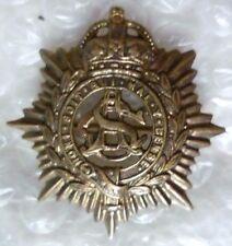 Badge- Royal Army Service Corps BROOCH Badge KC (BRASS, Org*) RARE