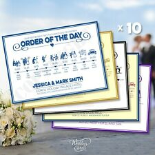 10 Wedding Order of the Day Order Our Service Ceremony Program List Information