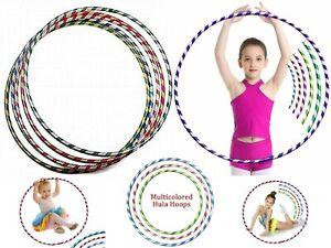 Multi Stripy Glitter Kids/Adults Small Large Hula Hoops DIA:50cm,60CM,70CM Sport
