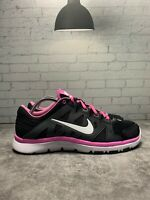 Nike Flex Training Pink Black And White Women's Sneakers With Fitsole Size 8.5