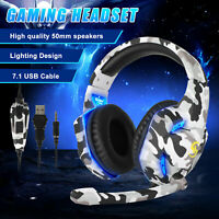 LED Gaming Headset Noise Cancelling Headphone for Nintendo Switch/PS4/Xbox one