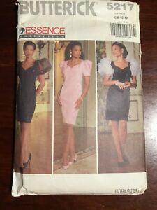 Vintage BUTTERICK Essence Collection Misses Dress Pattern 5217 Size 6-12