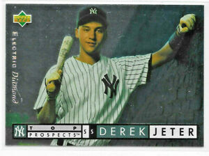 1994 UPPER DECK ELECTRIC DIAMOND #350 DEREK JETER ROOKIE NEW YORK YANKEES HOF
