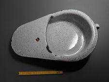 Ancien urinoir de chambre pour femme en métal émaillé french antique enamel