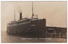 RARE Real Photo - Steamer Missouri - US Mail 1910 Traverse City MI Michigan RPPC