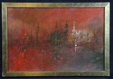 Expressionnisme abstrait Huile sur toile marouflée sur carton fort signée en bas