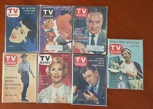 LOOK!  Lot Of (7) U.S. TV Guide Magazines From The 1950s
