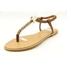 Sandalias con tiras de mujer marrón sintético