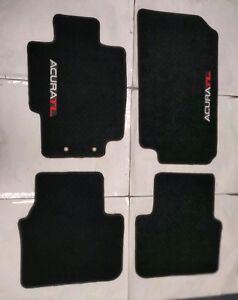 FITS FOR 2004-2008 ACURA TL CARPET FLOOR MATS BLACK W/Emblem 3